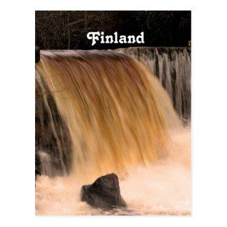 Finland Waterfall Post Card