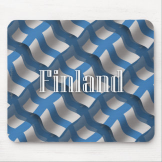 Finland Waving Flag Mouse Pad