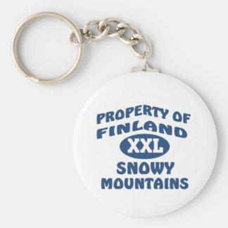 Finland XXl Snowy Mountains Key Chain
