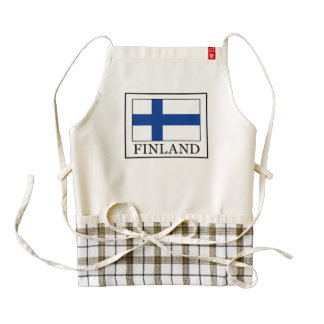 Finland Zazzle HEART Apron