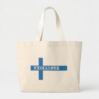 Finlander Flag Large Tote Bag