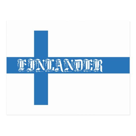 Finlander Flag Postcard