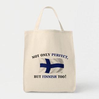 Finlandés y perfecto bolsas lienzo