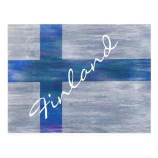Finlandia apenó la bandera finlandesa tarjeta postal