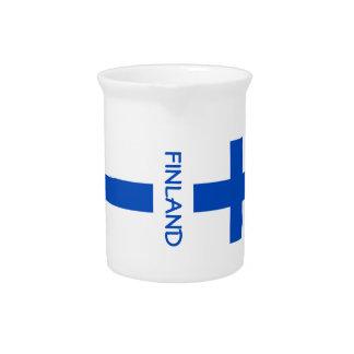 Finlandia-Bandera-clásico Jarrones