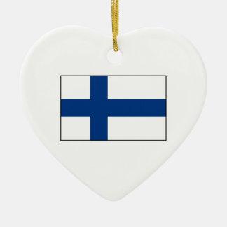 Finlandia - bandera finlandesa ornamento para arbol de navidad