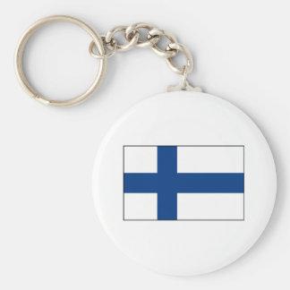 Finlandia - bandera finlandesa llaveros