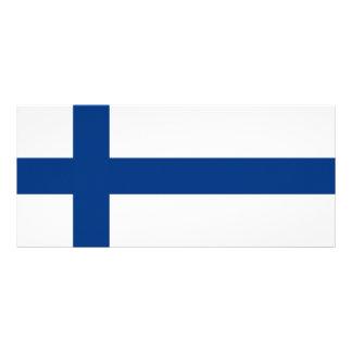 Finlandia - bandera nacional finlandesa tarjeta publicitaria