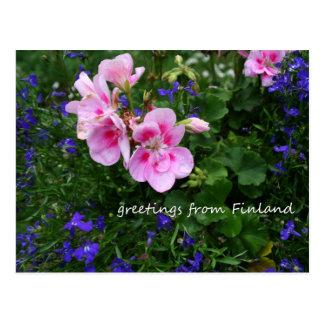 Finlandia en las flores, 1ras en una serie tarjeta postal