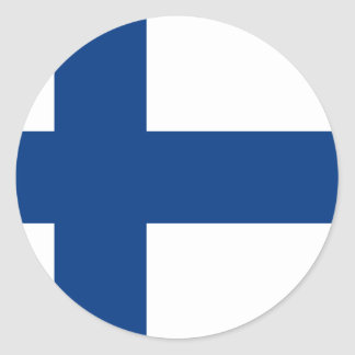 Finlandia FI Pegatina Redonda