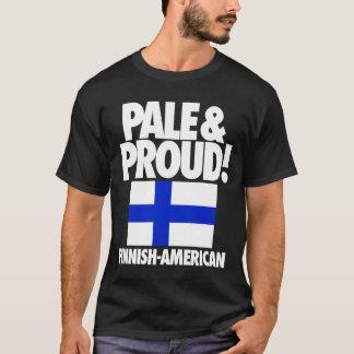 Finlandia pálida y orgullosa Finlandés-Americana Playera