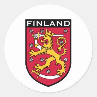 Finlandia Pegatina Redonda