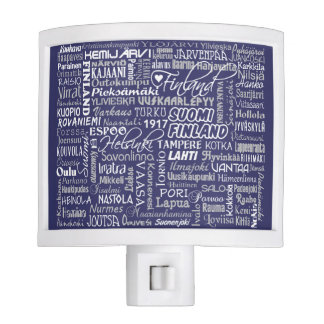 Finland's Towns custom color night light