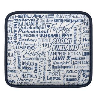 Finland's Towns iPad sleeve