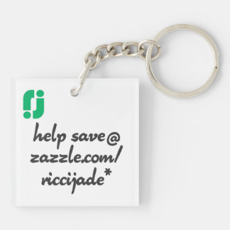 finless porpoise (not for profit) Double-Sided square acrylic keychain