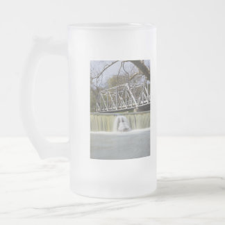 Finley Dam After The Rain Frosted Glass Beer Mug