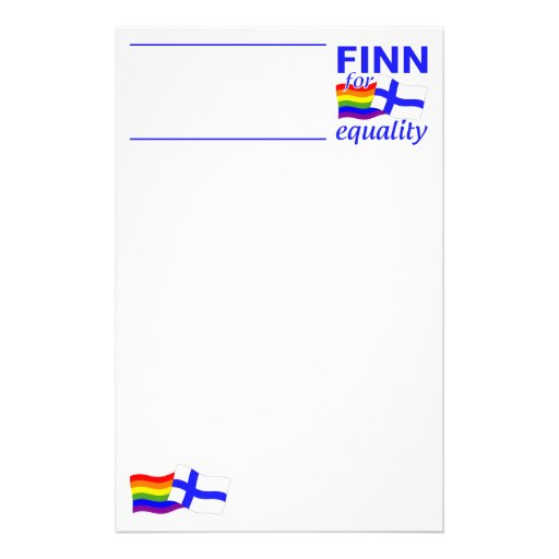 Finn 4 Equality stationary - customize Stationery
