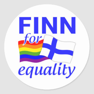 Finn 4 Equality stickers