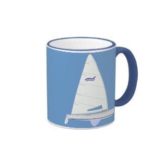Finn Class Racing Sailboat Ringer Coffee Mug