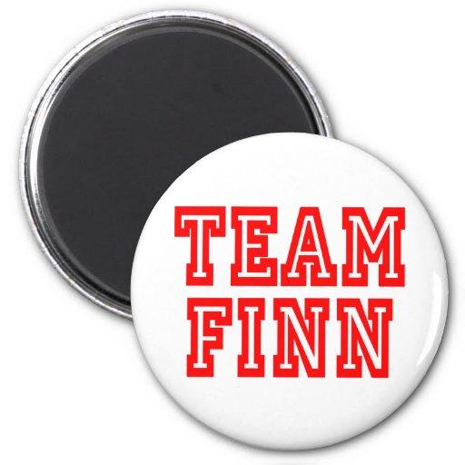 Finn del equipo imán redondo 5 cm