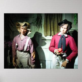 Finn del Huck con Tom Sawyer Póster