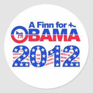 FINN FOR OBAMA 2012 stickers