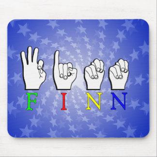 FINN   NAME ASL FINGER SPELLED SIGN MOUSE PAD