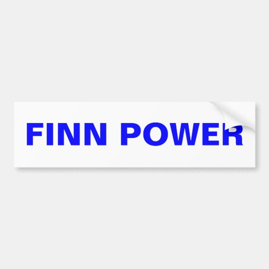 FINN POWER Bumper Sticker Upper Peninsula Finland