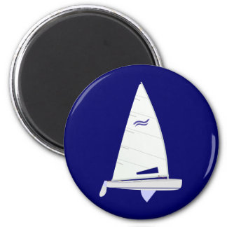 Finn Racing Sailboat onedesign Olympic Class 2 Inch Round Magnet