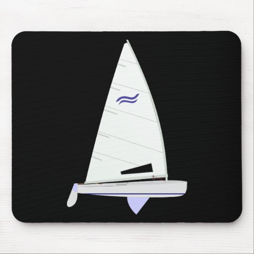 Finn Racing Sailboat onedesign Olympic Class Mouse Pad