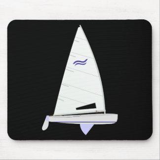 Finn Racing Sailboat onedesign Olympic Class Mousepads