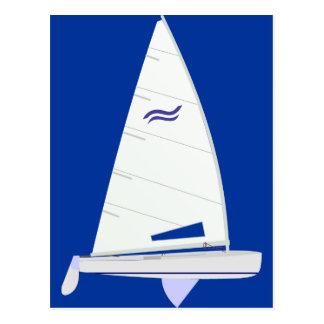 Finn Racing Sailboat onedesign Olympic Class Postcard