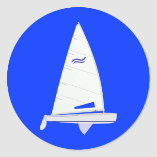 Finn Racing Sailboat onedesign Olympic Class Classic Round Sticker