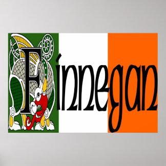 Finnegan Celtic Dragon Print