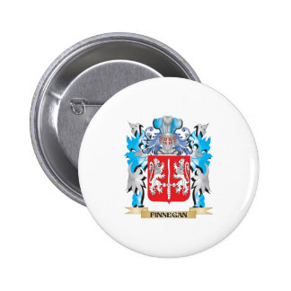 Finnegan Coat of Arms - Family Crest Pinback Button