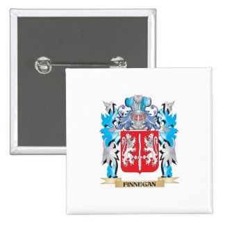Finnegan Coat of Arms - Family Crest Pinback Buttons