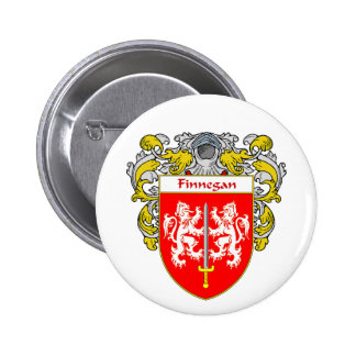 Finnegan Coat of Arms (Mantled) Button