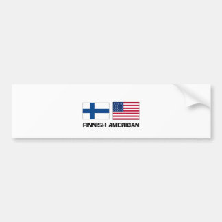 Finnish American Bumper Sticker