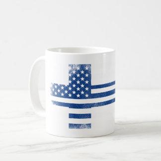 Finnish American Flag   Finland and USA Design Coffee Mug