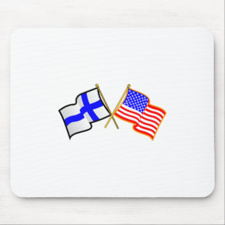Finnish American Flags Mouse Pad