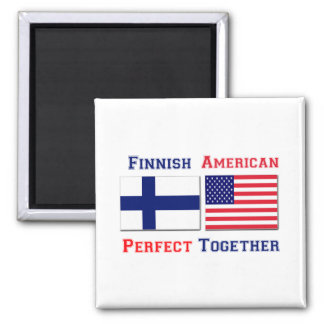 Finnish American Perfect 2 Inch Square Magnet