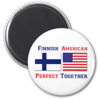 Finnish American -  Perfect Together 2 Inch Round Magnet