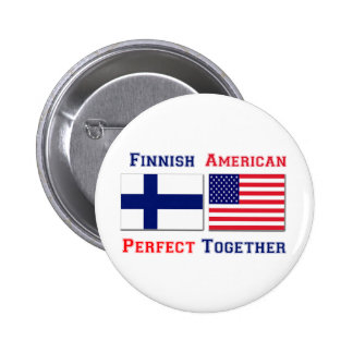 Finnish American -  Perfect Together Pinback Button