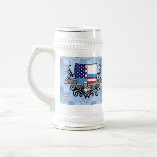 Finnish-American Shield Flag Beer Stein