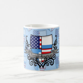 Finnish-American Shield Flag Classic White Coffee Mug