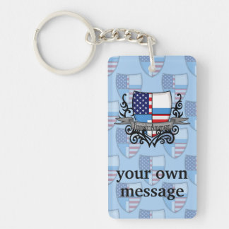 Finnish-American Shield Flag Keychain
