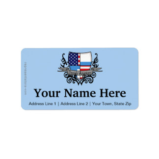 Finnish-American Shield Flag Label