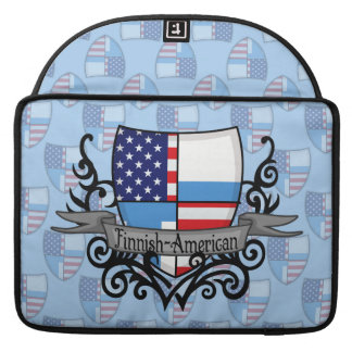 Finnish-American Shield Flag MacBook Pro Sleeves
