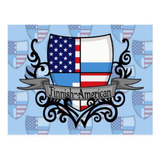 Finnish-American Shield Flag Postcard