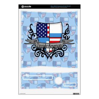 Finnish-American Shield Flag Xbox 360 S Console Skin